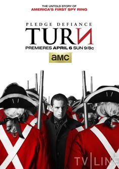 Turn is a period drama based on Alexander Rose's book Washington's Spies: The Story of America's First Spy Ring. Set in the summer of 1778, show tells the story of New York farmer, Abe Woodhull, who bands together with a group of childhood friends to form The Culper Ring, an unlikely group of spies who turn the tide in America's fight for independence.
