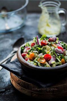 Greek Salad - Binjal's VEG Kitchen