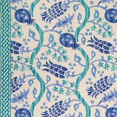 Nisiotiko in Aqua/Sapphire Blue from Brunschwig & Fils #fabric #linen #blue