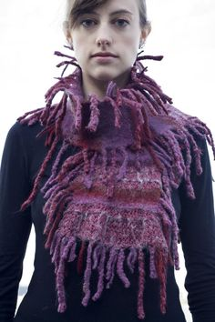 Knitted AND Felted - perhaps a stashbuster of wools!