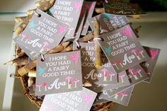 Woodland Fairy Favor Tags- Fairy Favor Tags- Hope you had a fairy good time- Fairy Theme Printables- Fairy Party Favor Tags by CrowningDetails on Etsy