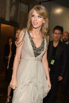 Taylor Swift Back Stage at the 2014 Grammy's