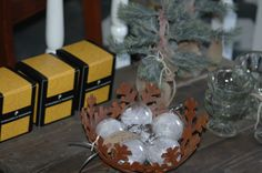 Gorgeous glass baubles with feathers inside, maybe an angel has left behind??