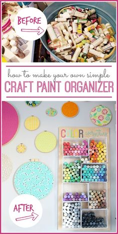 How to organize craft paint tutorial from MichaelsMakers  Sugarbee Crafts