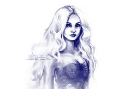 Daenerys Targaryen by Alice X. Zhang (^alicexz) on deviantART, drawn in Adobe Photoshop with Wacom tablet