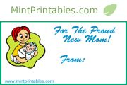 Free Printable Gift Tag for a New Mother