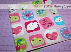 Fabric Covered Binder made by Cotton Canvas Fabric, Handmade, DIY, Craft idea