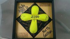 Senior softball gift. Made for my daughters softball team. Really easy!
