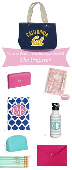 What to Pack in your Backpack for Fall: The Prepster - PBteen Blog