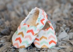 ON SALE Mint, Gold and Coral Chevron Shoes Perfect for Baby Showers, Outfits, Weddings, Photos, Baby Gifts Available in Newborn to 24 Months by NaptimeKraftsbyJen on Etsy https://www.etsy.com/listing/246335421/on-sale-mint-gold-and-coral-chevron