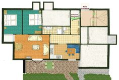 Haus Jonghof apartment 1 | floor map - SeefeldApartments