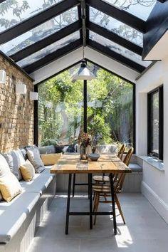 Interior Garden, Interior Exterior, Home Interior Design, Interior Design Inspiration, Casas Magnolia, House Extension Design, Outdoor Seating Areas, Garden Seating, House Extensions