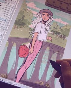 Trying different color palettes for the background to see if everything matches #wip