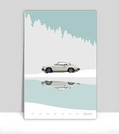 White Porsche 911 In The Alps 24x36.jpg