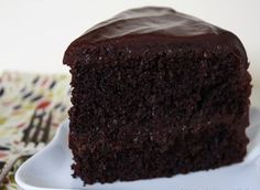 The best chocolate cake ever. I'm so glad I made it… and loved it. As you know I'm not a fan of chocolate but this cake? It's one I actually want to EAT as much as I want to BAKE it !