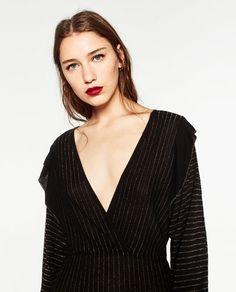 Image 6 of SHORT SHIMMER DRESS from Zara