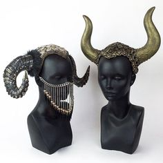 Posting some miniature horned headdresses in the shop today. Here are the first two!   www.etsy.com/shop/MissGDesignsShop  @missgdesigns #headdress #headpiece #horns #hornedheaddress #hornedheadpiece #ram #bull #mask #badass #crazyasshat #missgdesigns