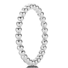 Pandora Sterling Silver Beaded Band Ring. Beads of Sterling Silver gather to form this slender ring from Pandora. Elegant in its simplicity, it can be paired with other rings from the collection for greater impact. Available at £35.00