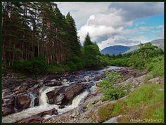 Scottish river view - Glen Orchy, Highland
