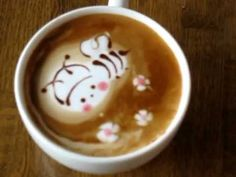 ラテアート(NO.20)~The trajectory of making latte art with my daughter.