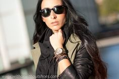 LEATHER SLEEVES PARKA | ! With Or Without Shoes