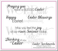 easter sentiments for handmade cards on easter morn craft tools on and 9721