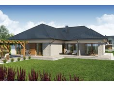 Atanazy 2 Beautiful House Plans, Beautiful Homes, Bungalow House Plans, Home Fashion, Gazebo, Exterior, Outdoor Structures, How To Plan, Architecture