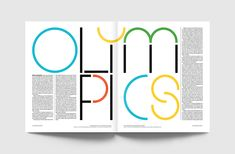 TwoPoints.Net design a typeface for ESPN The Magazine's Winter Olympics 2018 issue