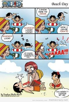 Poor Luffy, never getting Shanks attention 😏~ Otaku Ace One Piece, One Piece Comic, One Piece Fanart, One Piece Luffy, Missing Piece, One Piece Funny Moments, Anime Summer, Ace And Luffy, One Piece Images