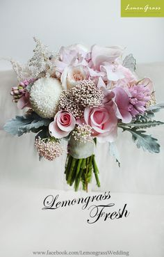 Wedding flower bouquets and corsages for brides, bridesmaids, grooms, groomsmen, and so much more!  www.facebook.com/LemongrassWedding