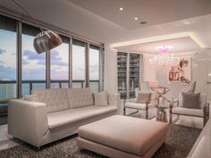 Icon Brickell apartment by One D+B Architecture with Flos Arco