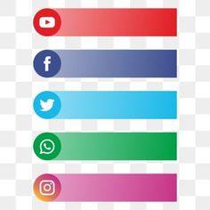 Social Media Art, Social Media Buttons, Social Media Banner, Web Banner Design, Instagram Logo, Facebook Logo Png, News Logo, Logo Clipart, Musik