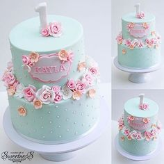 « LOVE this Beautiful First Birthday Cake by _________. « LOVE this Beautiful First Birthday Cake by _________… – Teen Cakes, Girl Cakes, 1st Birthday Cake For Girls, Happy Birthday, Cake Birthday, Cupcakes Decorados, Butterfly Cakes, Floral Cake, Holiday Cakes