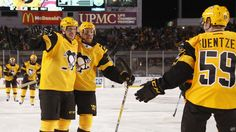 February 25, 2017 vs. Philadelphia: The #Pens got goals from Crosby, Bonino, Cullen and Ruhwedel to help lift them to victory at the 2017 Coors Light Stadium Series at Heinz Field. Final Score, 4-2 Penguins.