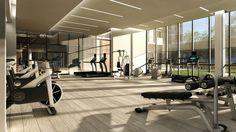 condo gym - Google Search Fitness Design, Gym Design, Club Design, Cairo, Gym Interior, Interior Design, Spa Lighting, Hotel Gym, Gym Room