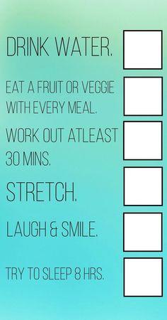 Daily health checklist....