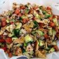 Fattoush Arabic Salad.  Simply delicious