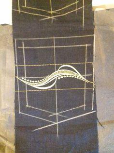 Jeans back pocket design embroidery