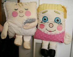 Pillow People - I had the one on the right.  If I remember correctly, I think my Grandma it for me at Christmas