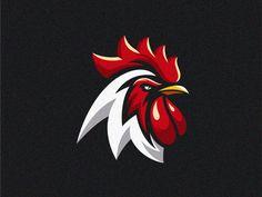 Rooster logo designed by albert kalingga. Connect with them on Dribbble; V Logo Design, Logo Design Trends, Game Design, Graphic Design, Chicken Brands, Chicken Logo, Rooster Logo, Rooster Art, Chicken Illustration