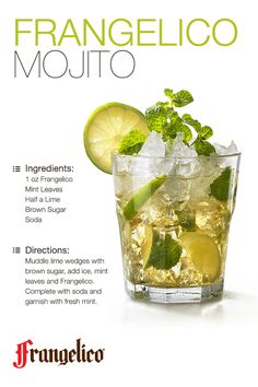 This summer, spice up your traditional mojito cocktail with a splash of Frangelico for a refreshing Fourth of July treat. ‎#cheers ‎#fourthofjuly