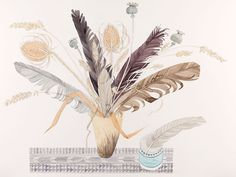 Angie Lewin Lakeside Feathers