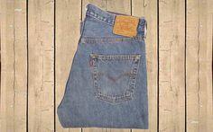 Vintage Levis 501 Straight Leg Mens Denim Jeans UK 1990s Blue W34 L34 by BlackcatsvintageUK on Etsy