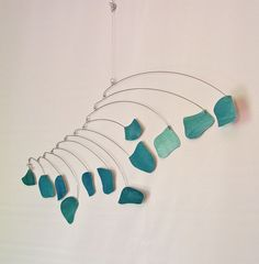 Kinetic Mobile Sculpture - Rocks in the Garden Watercolor - by Skysetter Designs