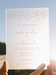 Plexiglass invitation: quite possibly the coolest wedding invites by Shannon LaBare