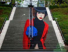 Mas às vezes a arte de rua vai um passo além, não só alterando o mundo em torno dele, mas realmente interagindo com ele.
