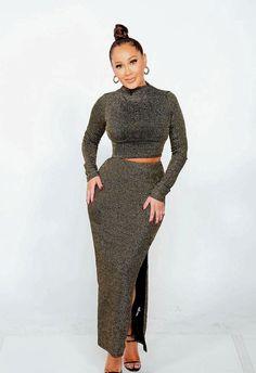 Adrienne Bailon, Fashion Wear, Two Piece Skirt Set, Suits, Dresses, Style, Vestidos, Swag, Suit