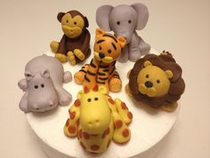 fondant safari animals