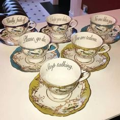 Miss Havisham's insult teacups