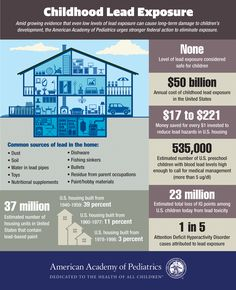 Childhood Lead Exposure Infographic from the American Academy of Pediatrics